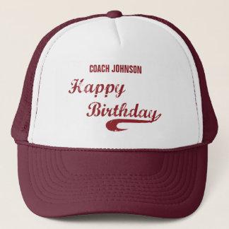 Boné Basebol do Grunge do feliz aniversario do