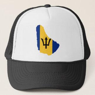 Boné BB do mapa da bandeira de Barbados