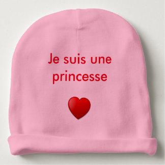 """Boné bebé rapariga """"sou uma princesa """" gorro para bebê"""