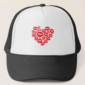 Boné beijos e coração do amor