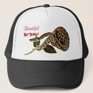 Boné Beleza perigosa do chapéu do cobra do pitão da