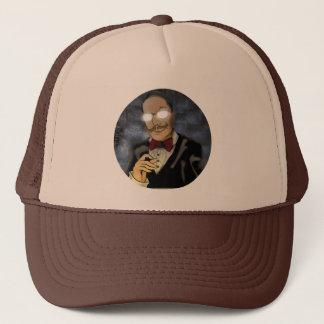 Boné Beware do chapéu redondo do camionista do logotipo