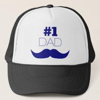 Boné Bigode azul do pai #1 - número um