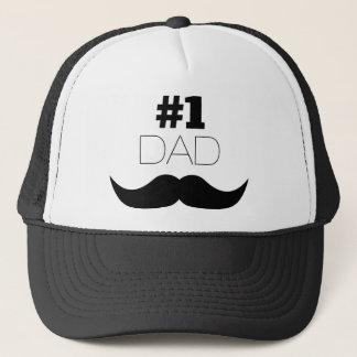 Boné Bigode do preto do pai #1 - número um