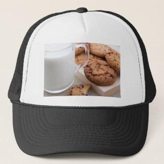 Boné Biscoitos do leite e de farinha de aveia com