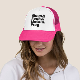 Boné Blues&Rock&Metal&Prog (preto)