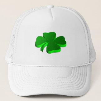Boné Boa sorte do símbolo afortunado do verde do trevo