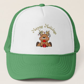 Boné Boas festas chapéu da rena de Rudy