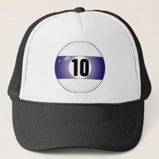 Boné Bola de bilhar do número dez