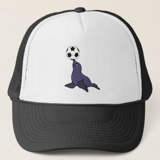 Boné Bola de futebol de mnanipulação animal do selo