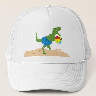 Boné Bola de praia engraçada do verão do dinossauro do