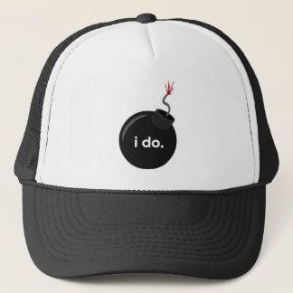 Boné Bomba do casamento - chapéu do despedida de