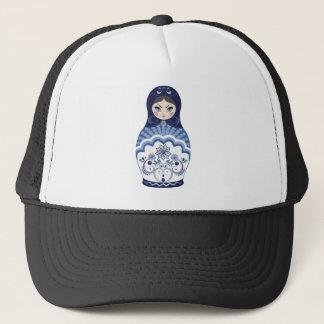Boné Boneca azul de Matryoshka