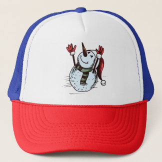 Boné Boneco de neve com chapéu do papai noel - nariz da