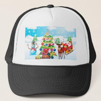 Boné Boneco de neve com Natal Tree2