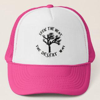 Boné Bonito no chapéu cor-de-rosa dos camionistas
