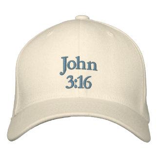 Boné Bordado 3:16 de John