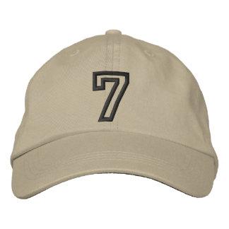 """Boné Bordado """"7"""" número atlético pequeno"""