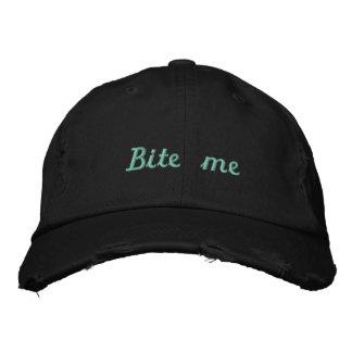 Boné Bordado A cerceta preta de Lyme_Ticked morde-me chapéu -