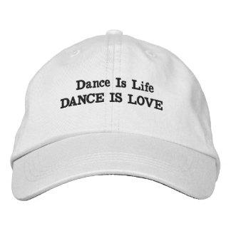 Boné Bordado A dança é chapéu do amor