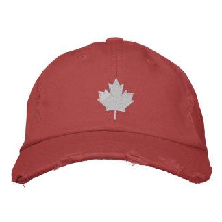 Boné Bordado A folha de Canadá