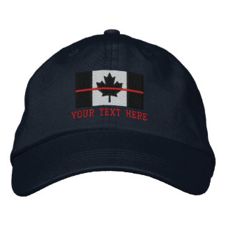 Boné Bordado A linha vermelha fina bandeira canadense