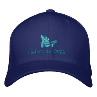 Boné Bordado A pesca acaba-se - chapéu bordado