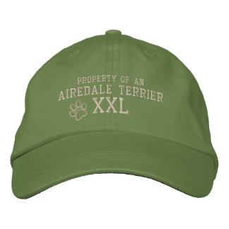Boné Bordado A propriedade de Airedale Terrier bordou o chapéu