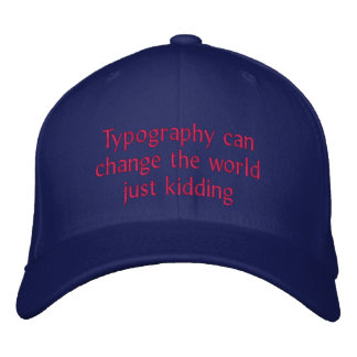 Boné Bordado A tipografia pode mudar o mundo