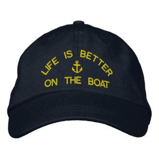 Boné Bordado A vida é melhor nos capitães da navigação do barco