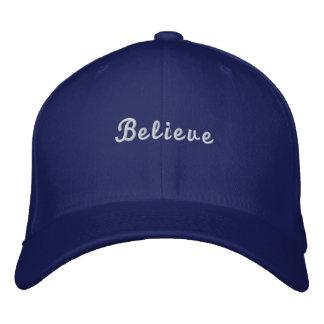 Boné Bordado Acredite chapéus de basebol da profissão da letra