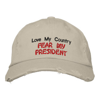 Boné Bordado Ame meu medo do país meu presidente