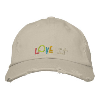 Boné Bordado Ame-o chapéus feitos sob encomenda do bordado