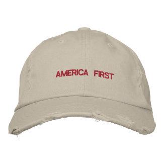 Boné Bordado América cita primeiramente a tipografia EUA