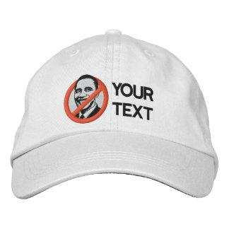 Boné Bordado Anti-Obama bordou o chapéu