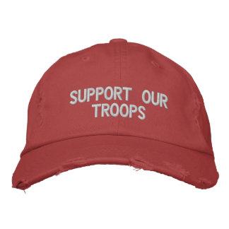 Boné Bordado Apoie nosso chapéu das tropas