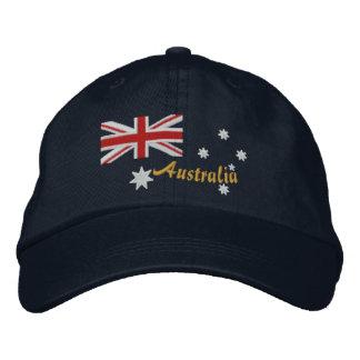 Boné Bordado australiano clássico da bandeira