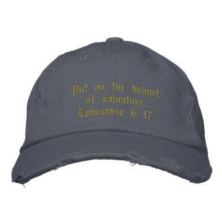 Boné Bordado Azul afligido do chapéu dos homens, inspirado