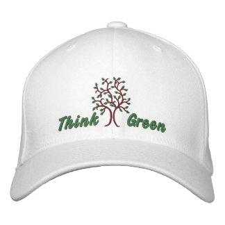 Boné Bordado ~ Ballcap do pense verde