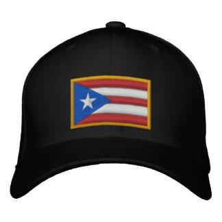 Boné Bordado Bandeira de Puerto Rico