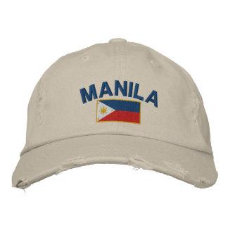 Boné Bordado Bandeira Manila de Filipinas