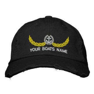 Boné Bordado Barco ou navigação personalizada