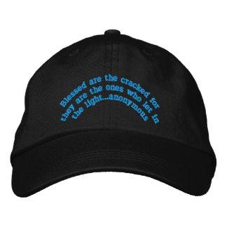 """Boné Bordado """"Blessed é """" o chapéu bordado rachado"""