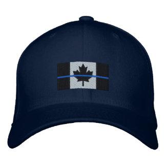 Boné Bordado Blue Line fino na bandeira canadense