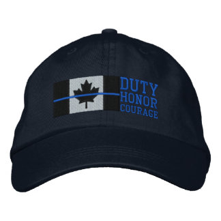 Boné Bordado Blue Line fino no dever canadense da bandeira