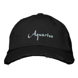 Boné Bordado Boné/chapéu bordados zodíaco do Aquário