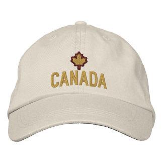 Boné Bordado Bordado canadense Canadá da folha de bordo