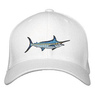 Boné Bordado Bordado do espadim azul da pesca desportiva
