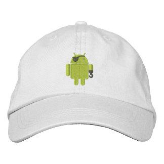 Boné Bordado Bordado do pirata do robô do Android