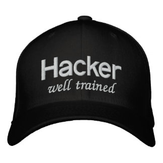 Boné Bordado Cabouqueiro bem treinado do chapéu negro